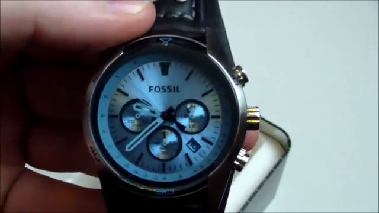 fossil uhr coachman ch2564 chronograph unboxing test. Black Bedroom Furniture Sets. Home Design Ideas
