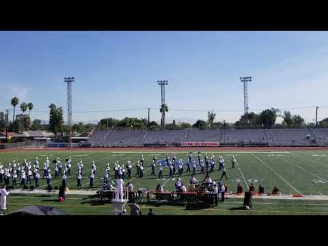 Yorba Linda high school Mustang Band and  color guard 2018 Fuego Latino