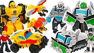 Transformers Rescue Bots Arctic Boulder, Bumblebee Rock Rescue Team combine! #DuDuPopTOY