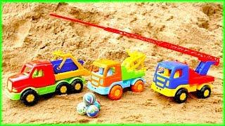 Машинки на пляже — Песочница для малышей  серии подряд — Развивашки