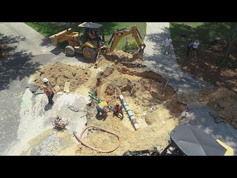 Drone Video Shows Sinkhole in Columbia, SC
