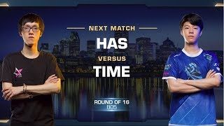 Has vs TIME PvT - Round of 16 - WCS Montreal 2018 - StarCraft II