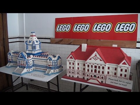 Giant LEGO Parliament of Canada buildings