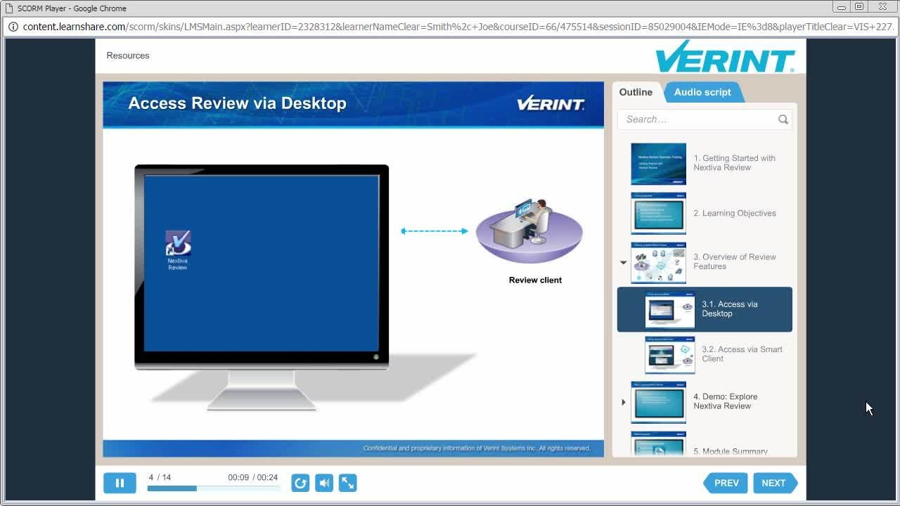 Verint Learning Center
