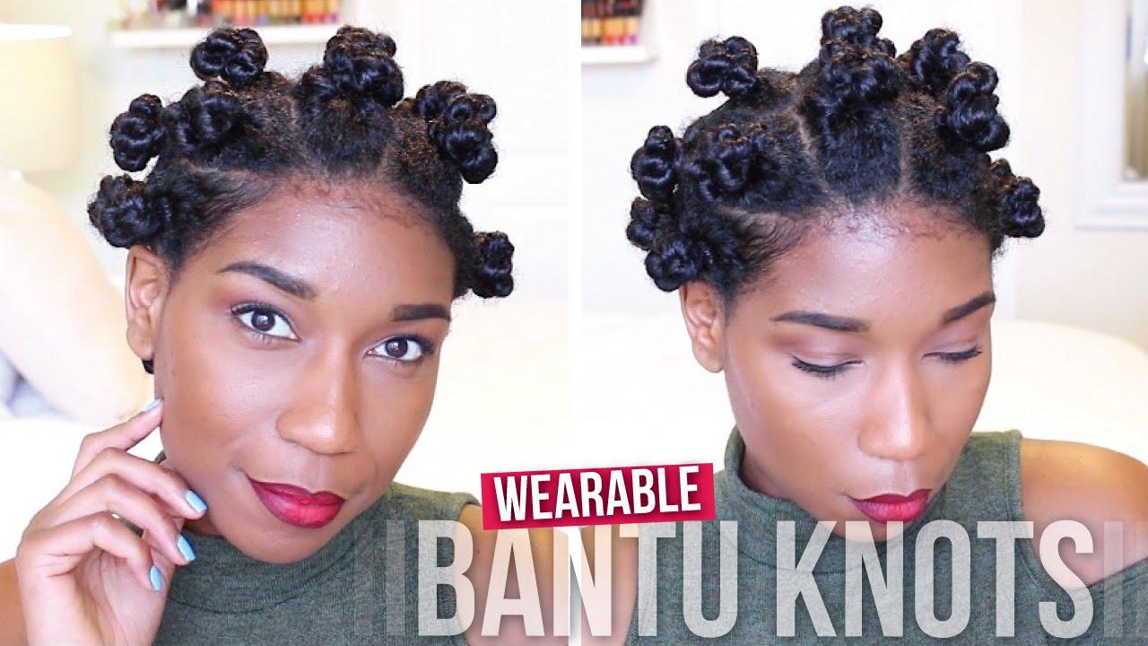 wearable threaded bantu knots