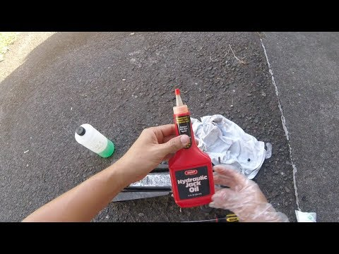 How to add hydraulic jack oil and bleed a Hydraulic Floor Jack