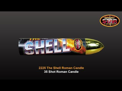 Bright Star Fireworks - 2225 The Shell 35 Shot Roman Candle