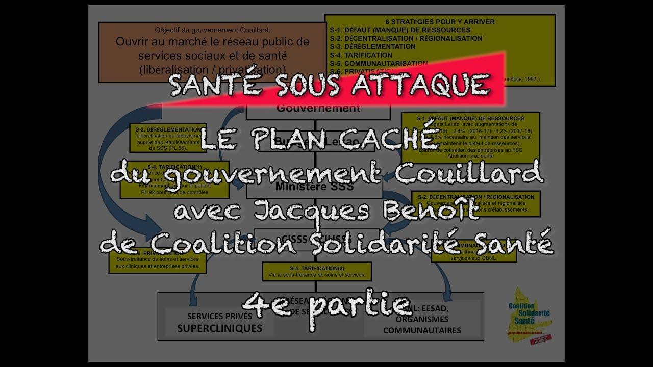 « Le Plan Caché  du gouvernement Couillard Partie 4 » La santé sous attaque