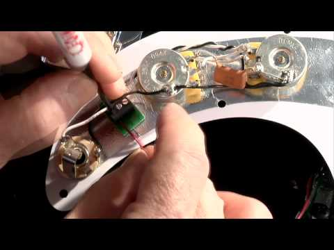 how to install dimarzio solderless p bass pickguard