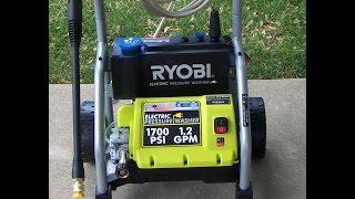 Ryobi electric 1700 psi pressure washer