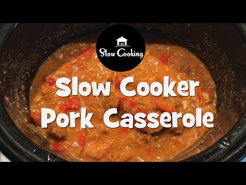 Slow Cooker Pork Casserole