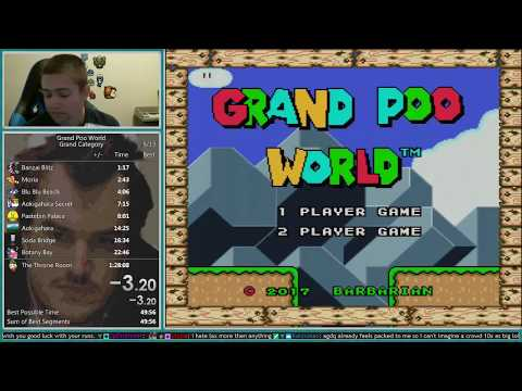 Grand Poo World Grand Category Speedrun 1:23:49 *World Record*