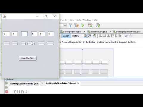 Insertion Sort Algorithm Simulator in java swing by Abdullah(part 1)