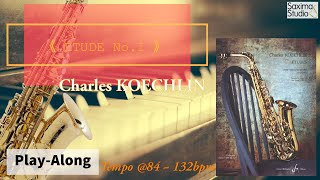 |109年學生音樂比賽|高中職組指定曲 3|KOECHLIN Etude No.I / Charles KOECHLIN /〈 伴奏音軌 〉( Backing Track )