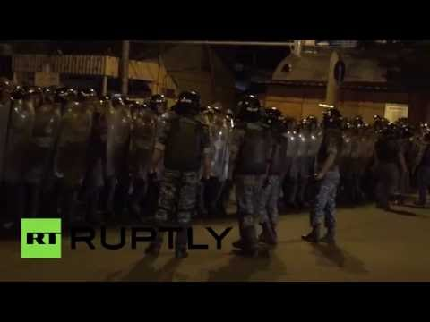 RAW: At least 60 injured as protesters clash with police in Armenian capital
