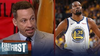 Chris Broussard: \'Even without KD, the Warriors can win this title\' | NBA | FIRST THINGS FIRST