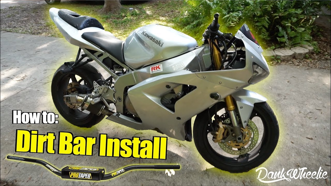 Stunt Tips : Installing Dirt Bike Bars (Stock Triple Tree