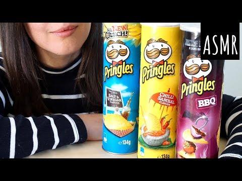 ASMR Eating Sounds: Three Kinds of Pringles | Crunchy (No Talking)