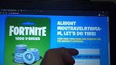 Can You Buy Fortnite V Bucks With Nintendo Gift Cards How To Buy V Bucks With Gift Card Fortnite Youtube