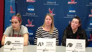 2018 NCAA D3 WBB Post-Game - Albright College