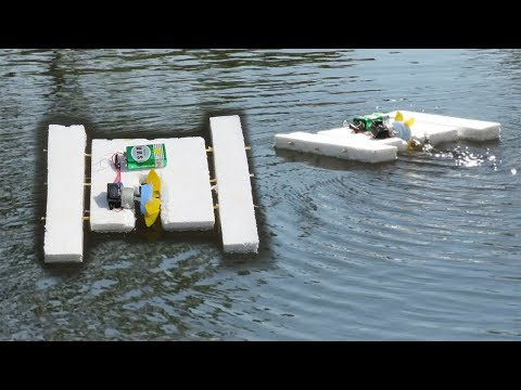 How to make an Electric Motor Boat using Thermocol and DC motor thumbnail