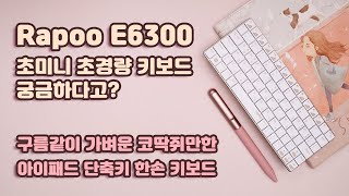 울트라 슬림 미니 키보드 Rapoo E6300 / 내돈…
