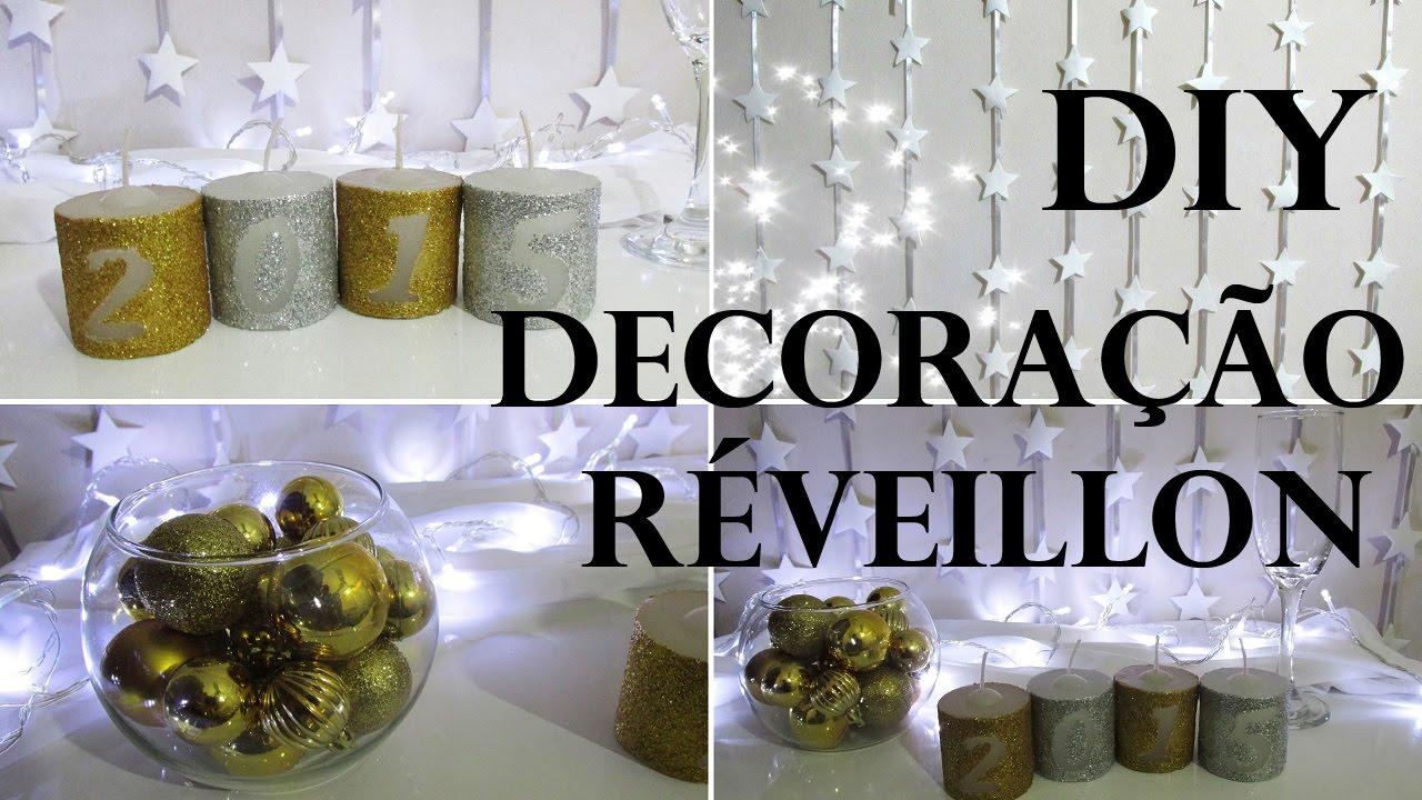 DIY IDEIAS DE DECORA u00c7ÃO PARA ANO NOVO (Réveillon New  -> Decoração De Ano Novo Simples E Barata