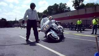 'How to ride and how not to ride' NC Precision Drill Team at Team Powersports' GoldWing Day