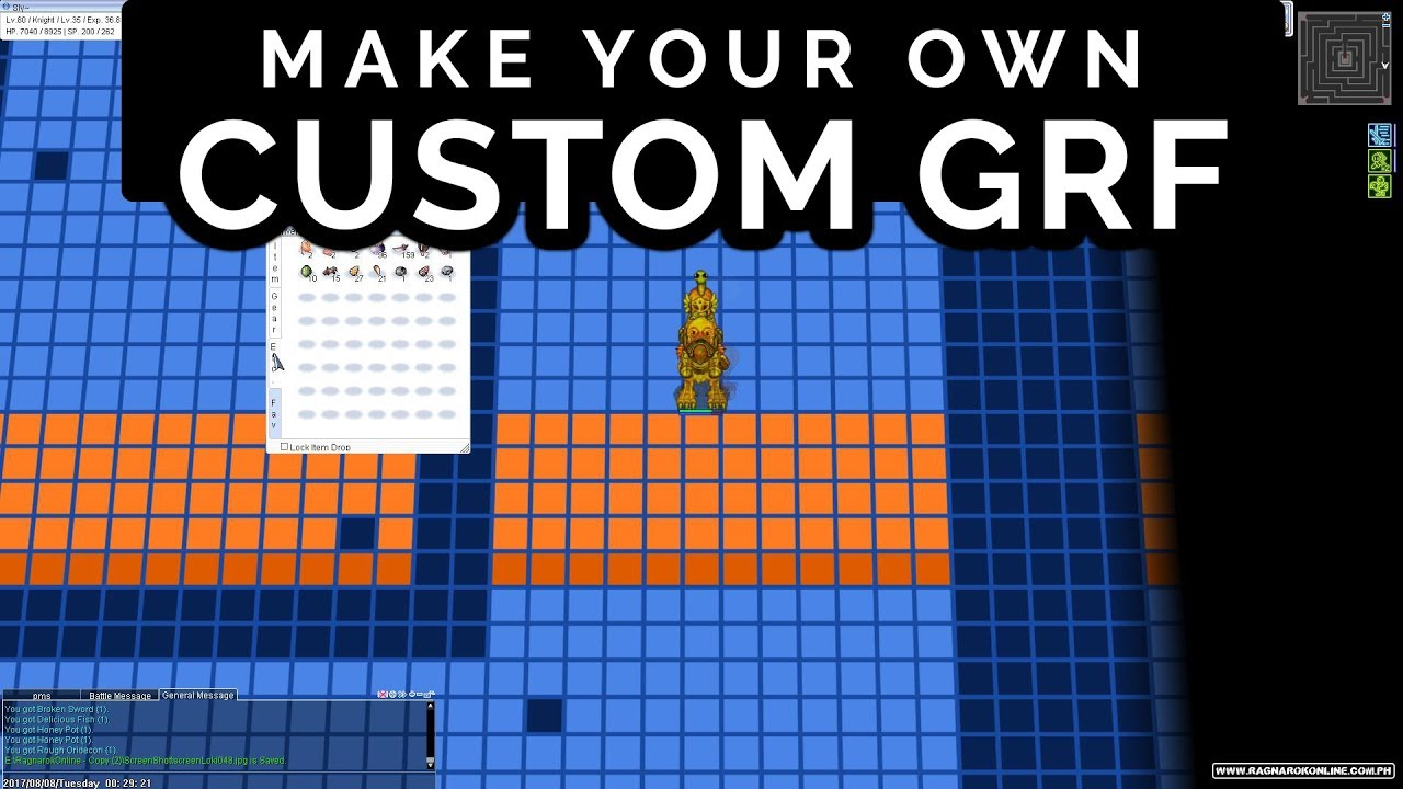 How to make Custom GRF Graymap Gutterlines Tiles