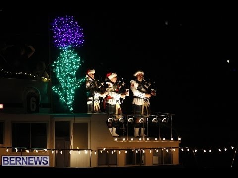 Caledonian Society In Bermuda Boat Parade, Dec 7 2013