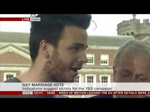 BBC report during 'gay' marriage referendum count on 23/05/2015