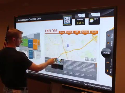 Waytouch Premier™ - 3D Wayfinding for Convention Center