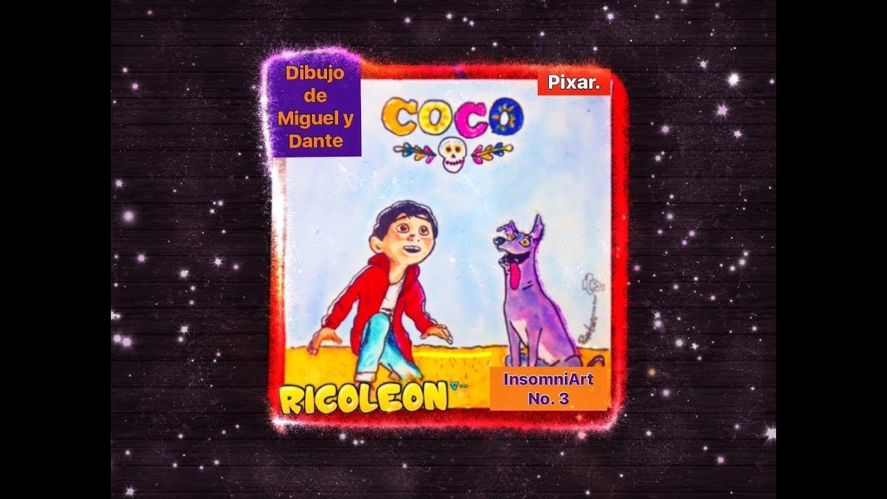 Miguel Coco Para Colorear: Dibujo De Miguel Y Dante (Pelicula De Coco Pixar