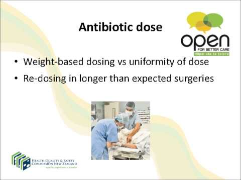 Surgical site infection webinar – surgical antibiotic prophylaxis