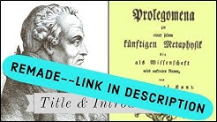 Kant Prolegomena Title & Introduction