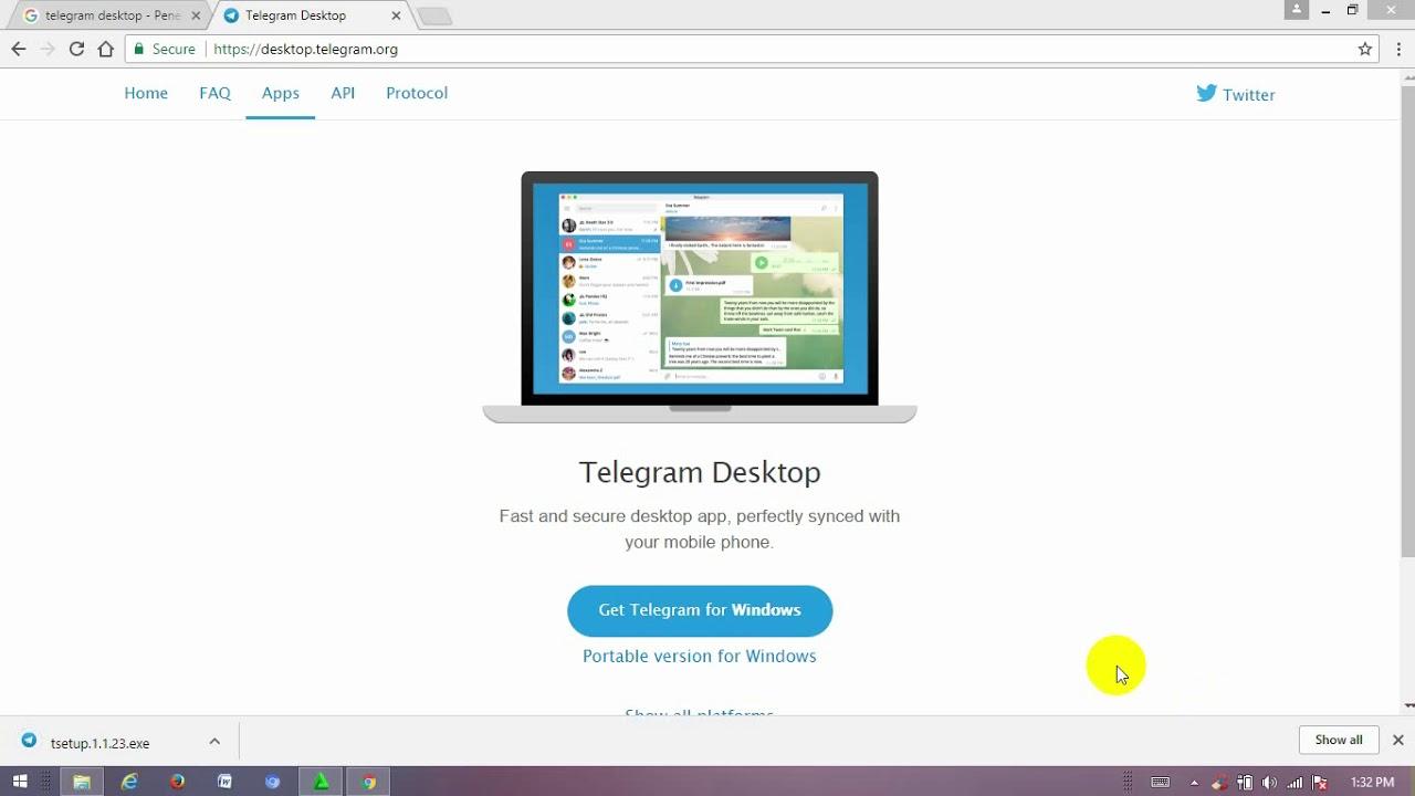 Cara install telegram di laptop/PC