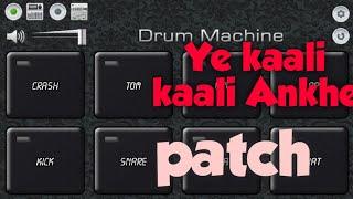 Yeh kaali kaali ankhen | full bass | Octapad tutorial|