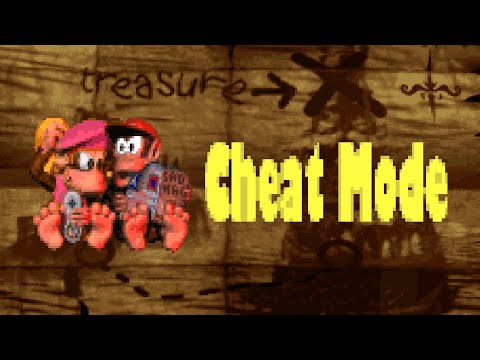Donkey Kong Country 2 Cheats - All Bonus Coins, More Lives, Hard Mode, Sound Test
