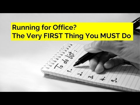 Running for Office? Do this One Thing FIRST