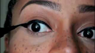 Extreme wing tipped eyeliner(Hello YouTubers!!!! I hope you enjoy!!!!!!! This is my Extreme Wing Tipped Eyeliner video Make-up is all about enhancing the beauty you already have!, 2014-05-10T01:27:12.000Z)