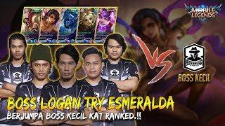 Bosskurr Berjumpa Boss Kecil Kat Ranked!! Logan Guna New Hero Esmeralda!!