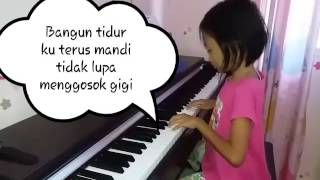 Lagu Anak - Bangun tidur cipt. Pak Kasur piano by Cica