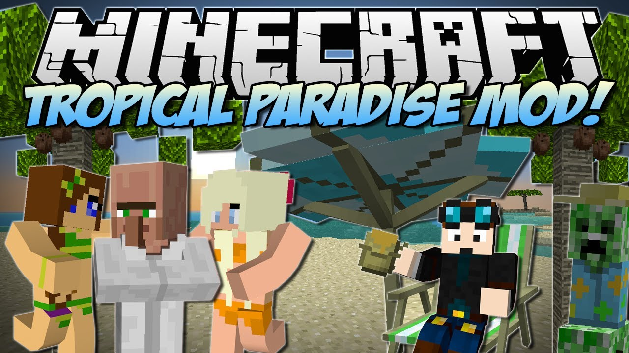 Minecraft Tropical Paradise Mod Tropicreepers Fancy Fish Tons More Mod Showcase Youtube