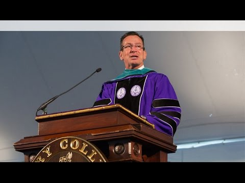 Connecticut Governor Dannel P. Malloy Delivers 2016 Commencement Address