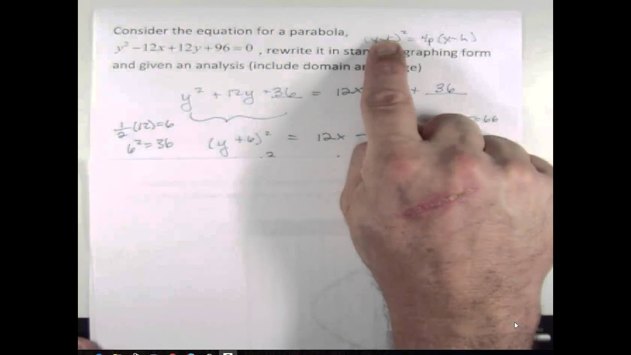 Writing parabolas in standard graphing formconics youtube writing parabolas in standard graphing formconics falaconquin