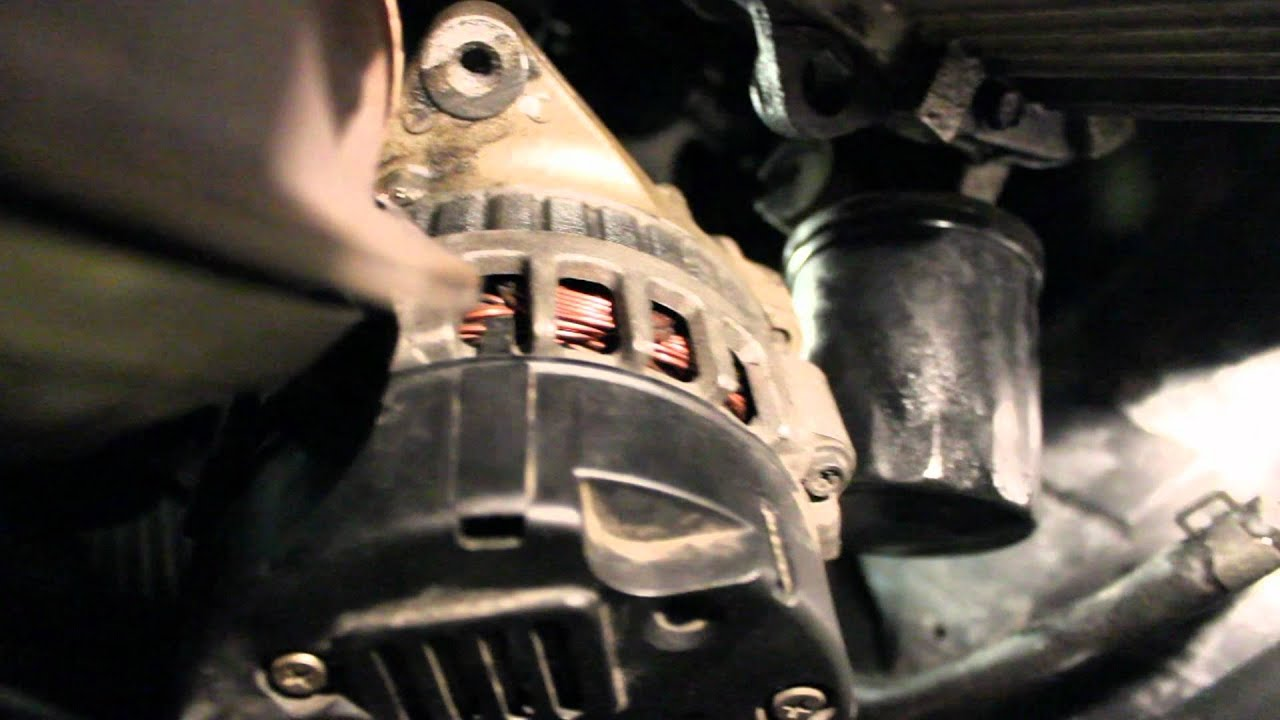hight resolution of how to change alternator hyundai elantra 01 06