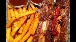 "My Cooking Diary ""beef Back Ribs & Seasoned Fries"""