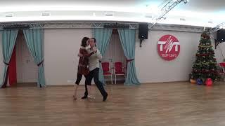 Урок 71. Танго. Женская Сакада в комбинации.