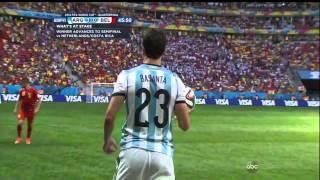 Argentina Belgium 2014 World Cup Full Game ESPN Quarterfinal Quarterfinals