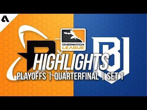Philadelphia Fusion vs Boston Uprising | Overwatch League Playoffs Highlights Quarterfinals Set 1 thumbnail
